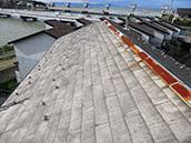 ⑨セメント瓦、コロニアル屋根の塗膜剥離の有無